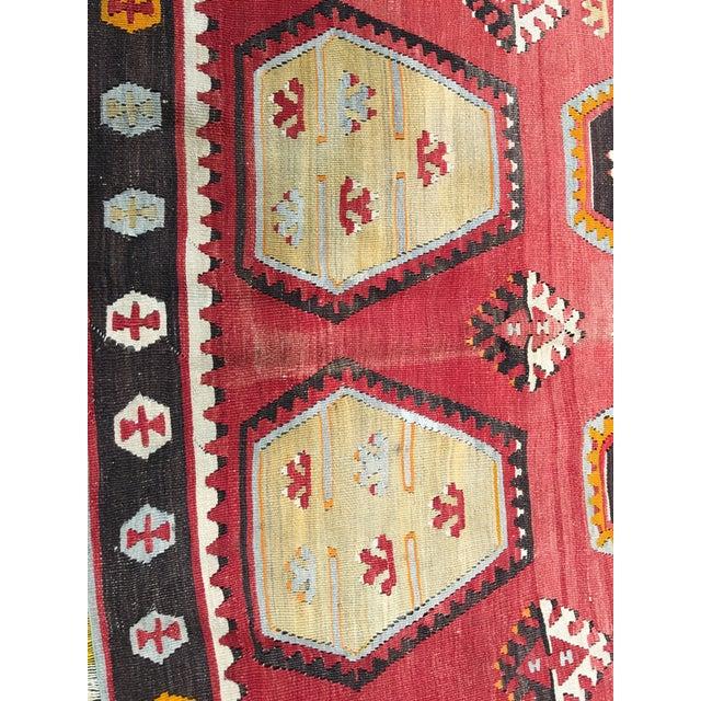 """Vintage Turkish Kilim Rug- 7'7"""" x 11'7"""" - Image 8 of 8"""