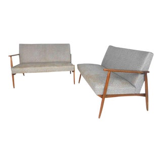 Vintage Modern Sectional Settee Sofa For Sale