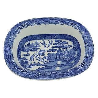 Antique English Willow Pie / Serving Dish - C. 1850s
