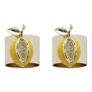 Lemon Napkin Rings, Set of Two For Sale