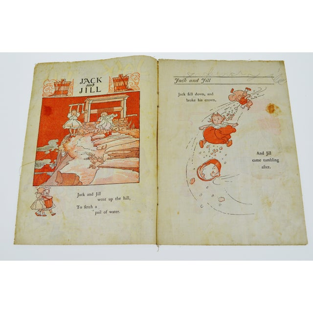 "American Classical McLoughlin Bros. ""Jack and Jill"" Children's Linen Book For Sale - Image 3 of 13"