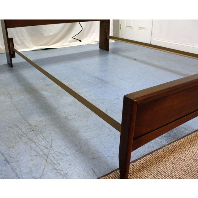 Mid-Century Modern Broyhill Emphasis Walnut Full Size Bookcase Bed ...