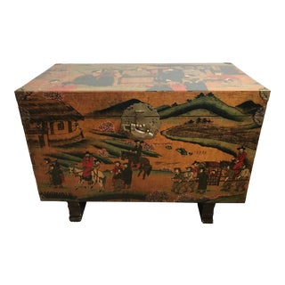 Mid-Century Asian Trunk For Sale