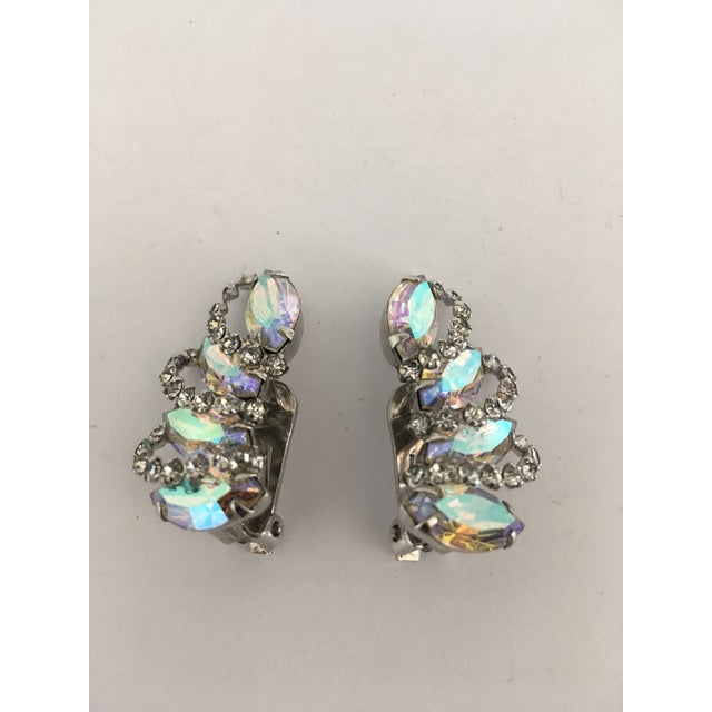 Art Deco Vintage Weiss Rhinestone Clips - a Pair For Sale - Image 3 of 11
