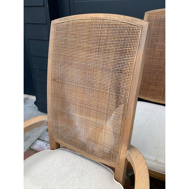 Mid-Century Tall Cane Back Dining Chairs - Set of 6 For Sale - Image 4 of 10