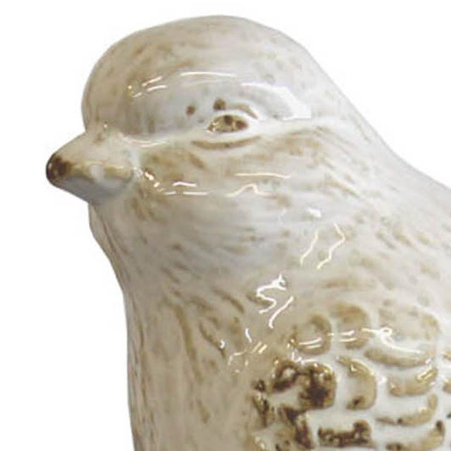 White Bird on a Pine Cone Figurine - Image 4 of 4