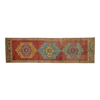 Vintage Turkish Oushak Runner - 3′4″ × 11′9″