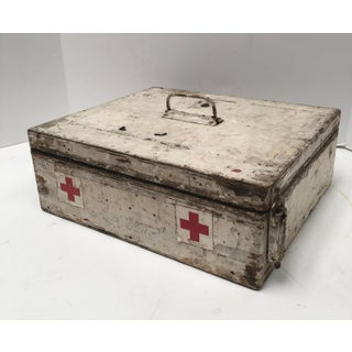 Vintage French Painted Wood First Aid Box Preview
