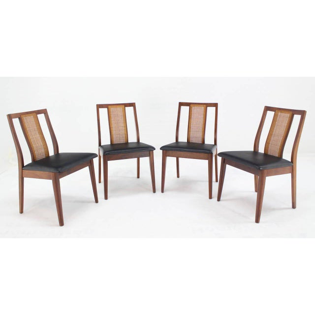 Set of Four Danish Mid-Century Modern Oiled Walnut Side Dining Chairs For Sale - Image 9 of 9