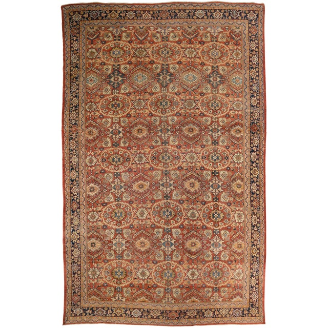 1920s Vintage Persian Sultanabad Rug - 10′4″ × 16′ For Sale