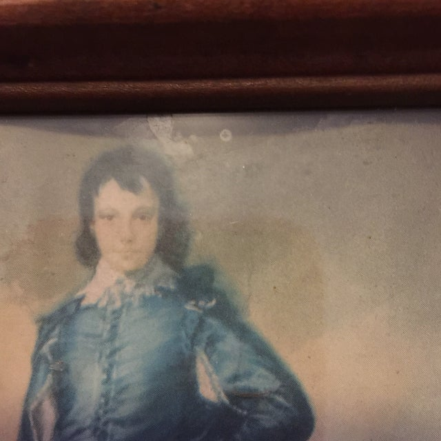 """""""Boy in Blue"""" Antique Painting - Image 3 of 5"""