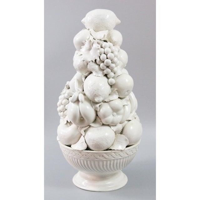 Italian White Creamware Fruit Topiary Centerpiece For Sale - Image 11 of 11