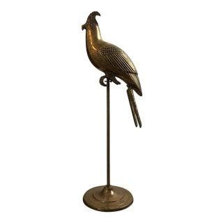 Mid-Century Brass Parrot