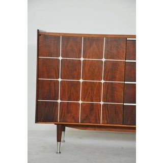 William Hinn Sideboard, Sweden 1950s, Walnut With Inlaid Aluminium Preview