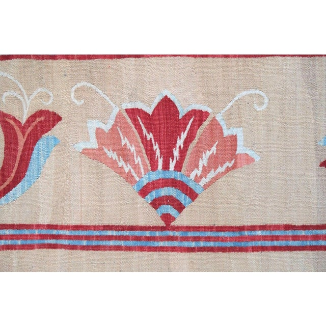 1950s, Handmade Vintage Romanian Bessarabian Kilim 5.9' X 9.6' For Sale - Image 4 of 6