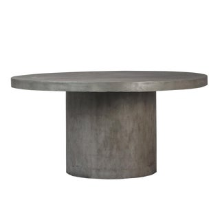 Outdoor Cement Round Dining Table For Sale
