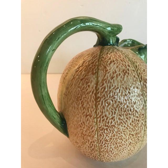 Ceramic Madcap Cottage Ceramic Cantaloupe Pitcher For Sale - Image 7 of 9