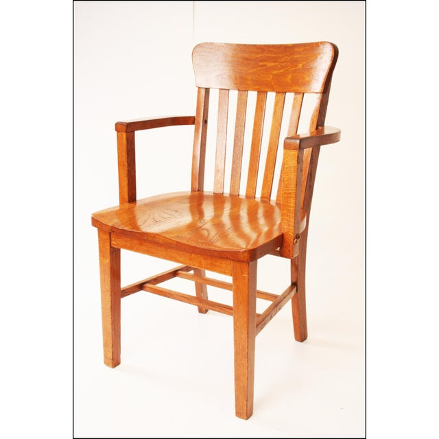 Heywood Wakefield Vintage Wood Banker Chair - Image 2 of 11 - Heywood Wakefield Vintage Wood Banker Chair Chairish