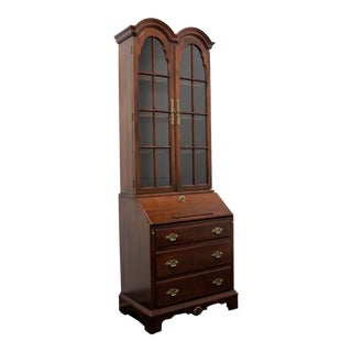 Davis Cabinet Co Solid Mahogany Chippendale Style Secretary For Sale