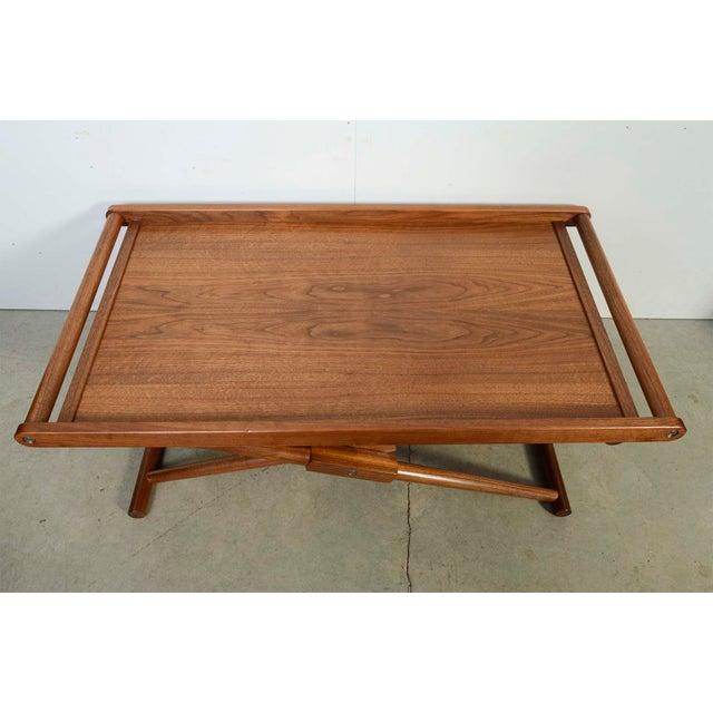 2000s Modern Richard Wrightman Matthiessen Walnut Coffee Table For Sale - Image 5 of 10