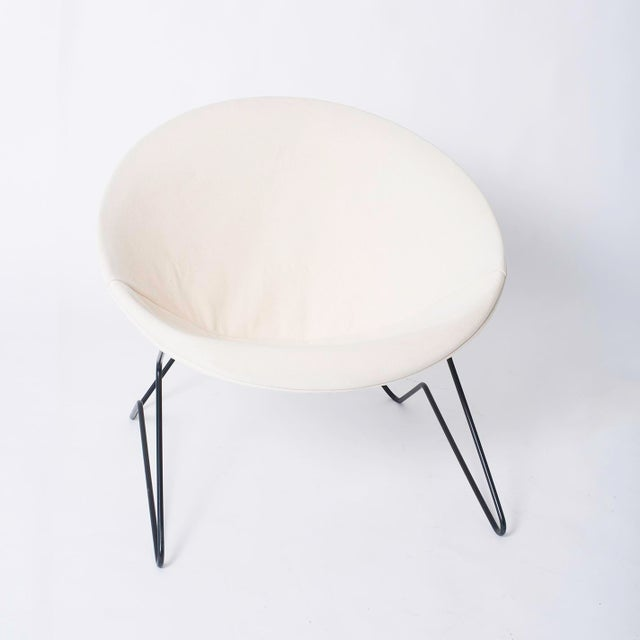 Mid-Century Modern Single Cantilevered Modernist Hoop Chair with Canvas Cover For Sale - Image 3 of 10