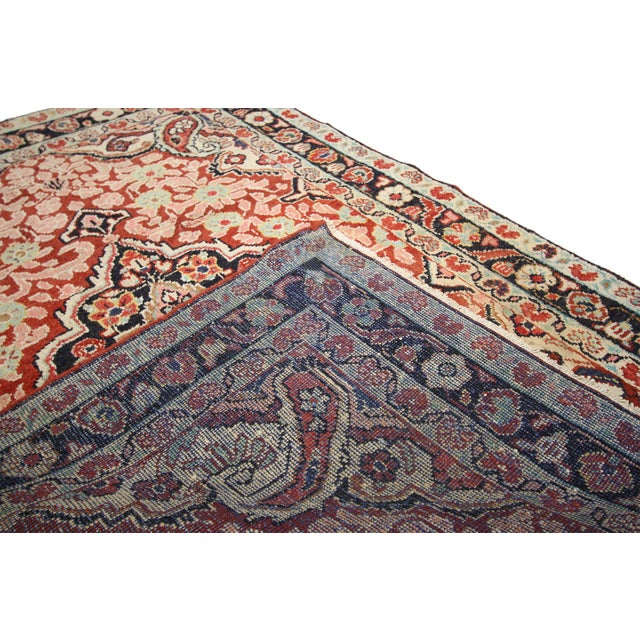 Vintage Persian Mahal Rug - 4'1 x 6'3 For Sale In Dallas - Image 6 of 8