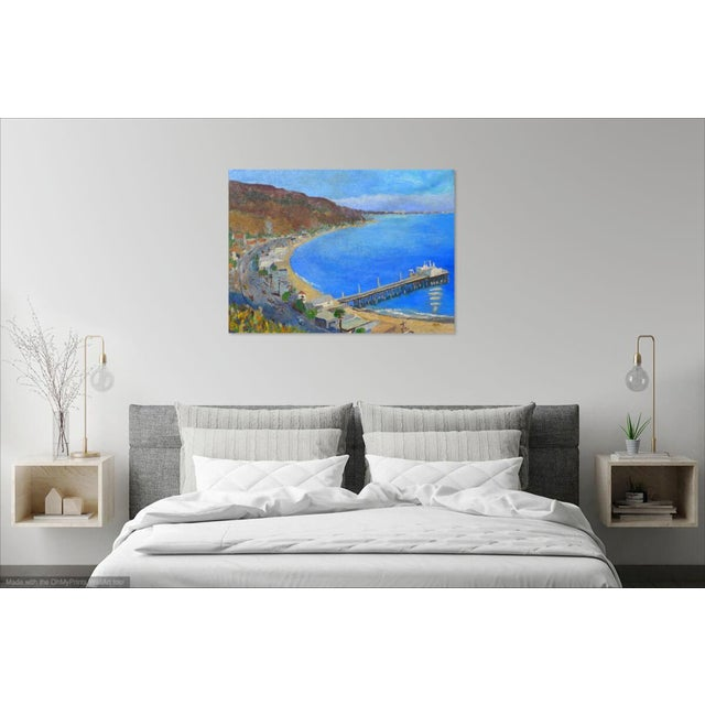 """Contemporary """"Malibu Pier, California"""" Contemporary Oil Painting by Martha Holden For Sale - Image 3 of 8"""