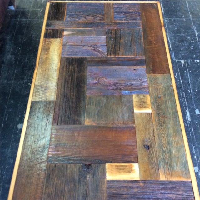 Rustic Handmade Coffee Table - Image 3 of 5