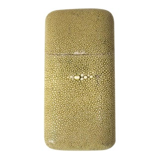 Pale Shagreen Cigar Case