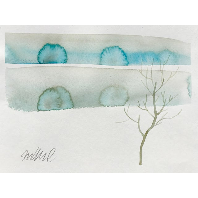 Original watercolor painting on strathmore paper. Minimal landscapes.