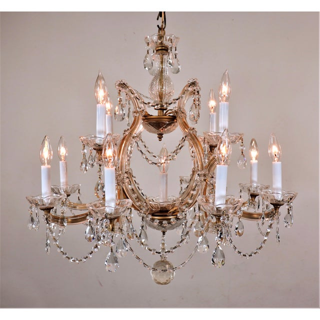 This type of chandelier is identified and named after the 18th century Empress of Austria. In 1746, a newly designed lyre-...