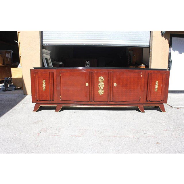 1930s French Art Deco Jules Leleu Rosewood Sideboard For Sale - Image 10 of 11