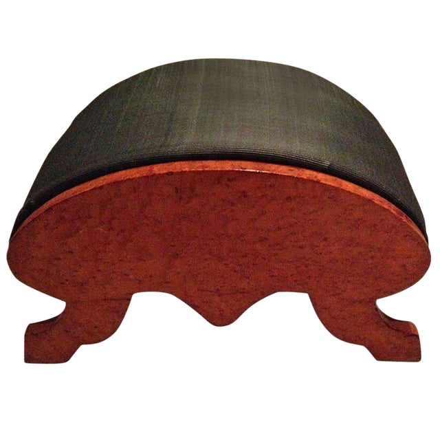 19th Century Biedermeier Burr Walnut Footstool For Sale