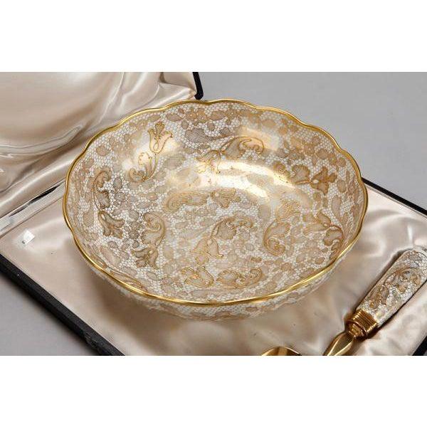 Le Tallec of Paris Gilded Porcelain Serving Set in Presentation Box - Image 6 of 10