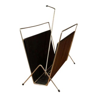 1960s French Magazine Stand in the Style of Adnet For Sale