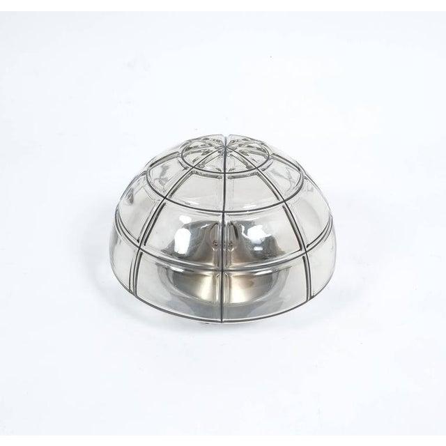 Glashütte Limburg Limburg flush mounts Ceiling lamp Clear Glass one out of five, 1970 For Sale - Image 4 of 4