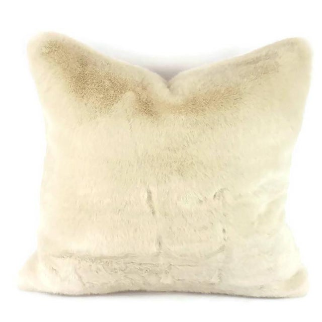 Not Yet Made - Made To Order Kravet Bewitching Cream Faux Fur Pillow Cover For Sale - Image 5 of 5