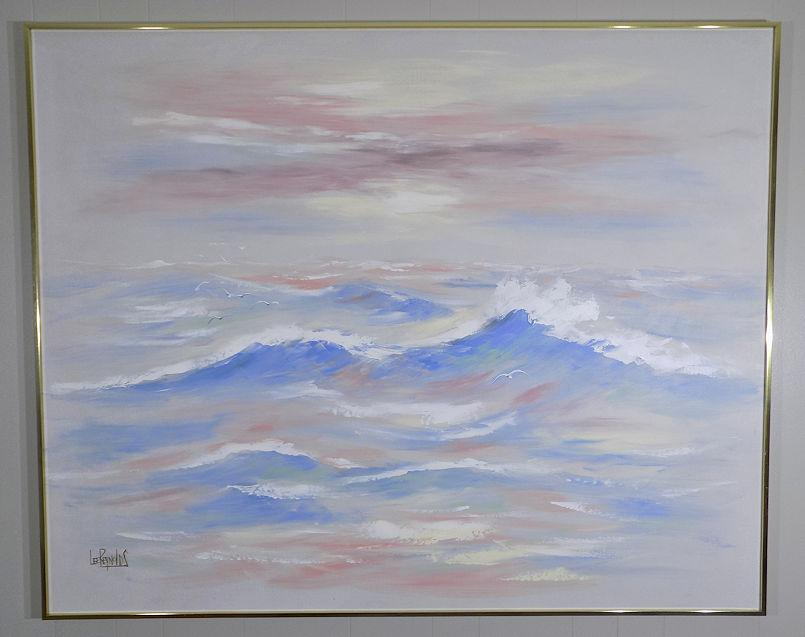 1980s Lee Reynolds Seascape Oil Painting Chairish