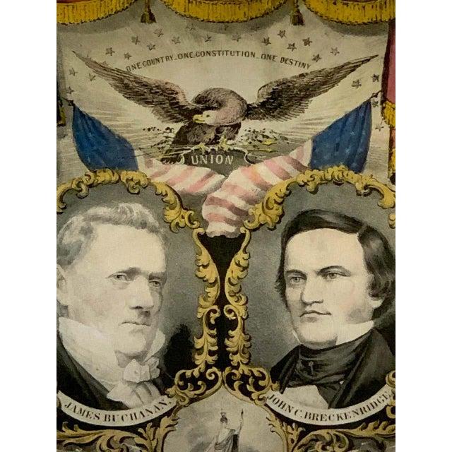 1856 N. Currier Buchanan & Breckenridge Grand National Democratic Banner For Sale - Image 10 of 11