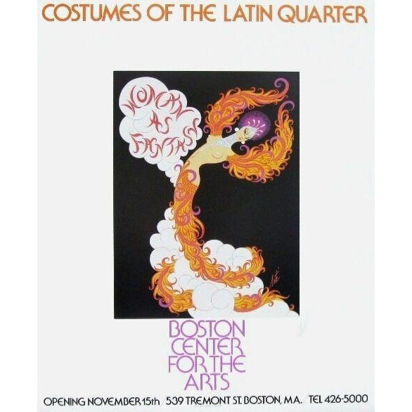 1978 Latin Quarter Erte Exhibition Poster - Signed For Sale