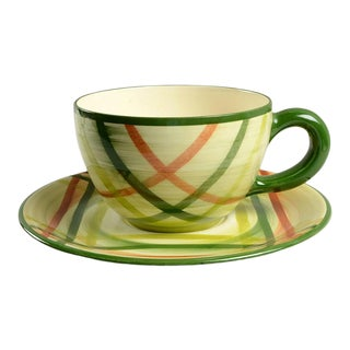 1940s Metlox Colossal Décor Cup & Saucer Set For Sale