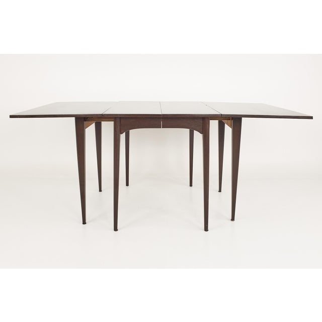 Mid 20th Century Kroehler Refinished Mid Century Drop Leaf Dining Table For Sale - Image 5 of 12