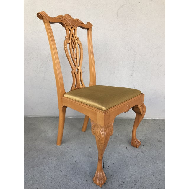 1970s 20th Century Boston Style Chippendale Mahogany Ball and Claw Foot Chairs - Set of 8 For Sale - Image 5 of 13