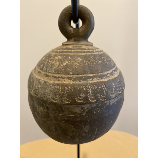 Early 19th Century Antique Metal Elephant Bell on Stand For Sale - Image 5 of 9