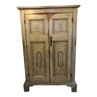 Antique French Country Painted Cupboard For Sale
