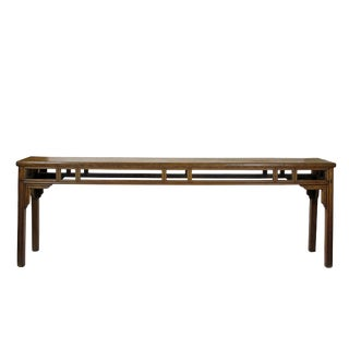 1900s Chinese Long Farm Console Table For Sale