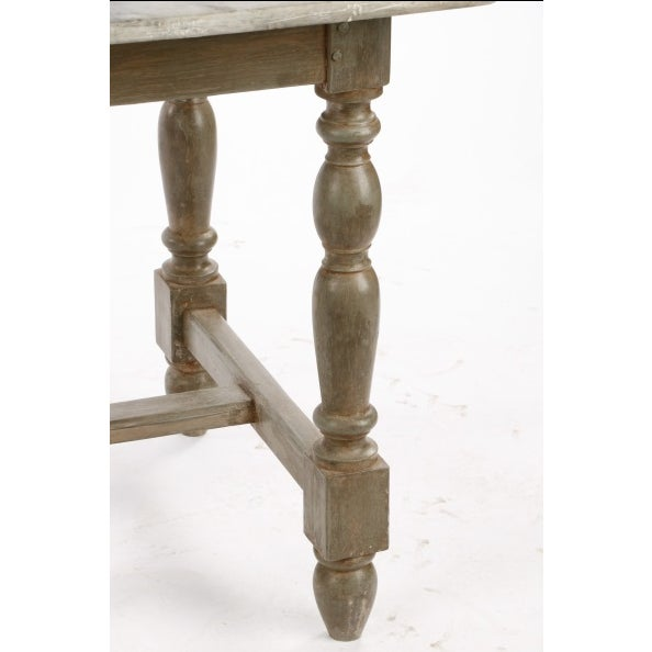 19th Century Gustavian Table With Marble Top and 18th Century Gustavian Farm Table - Image 5 of 10