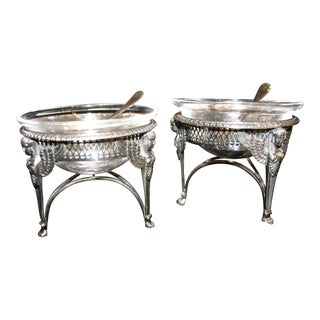 Early 19th Century Antique French Silver Napoleonic Salts - A Pair For Sale