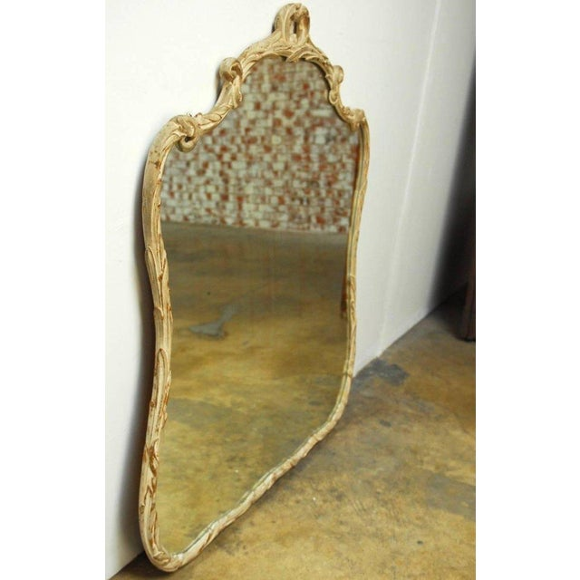 Italian Rococo Style Painted Gilt wood Foliate Mirror For Sale - Image 5 of 8