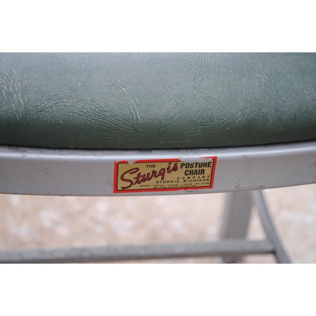 Mid-Century Industrial Tanker Desk Chair For Sale - Image 6 of 9